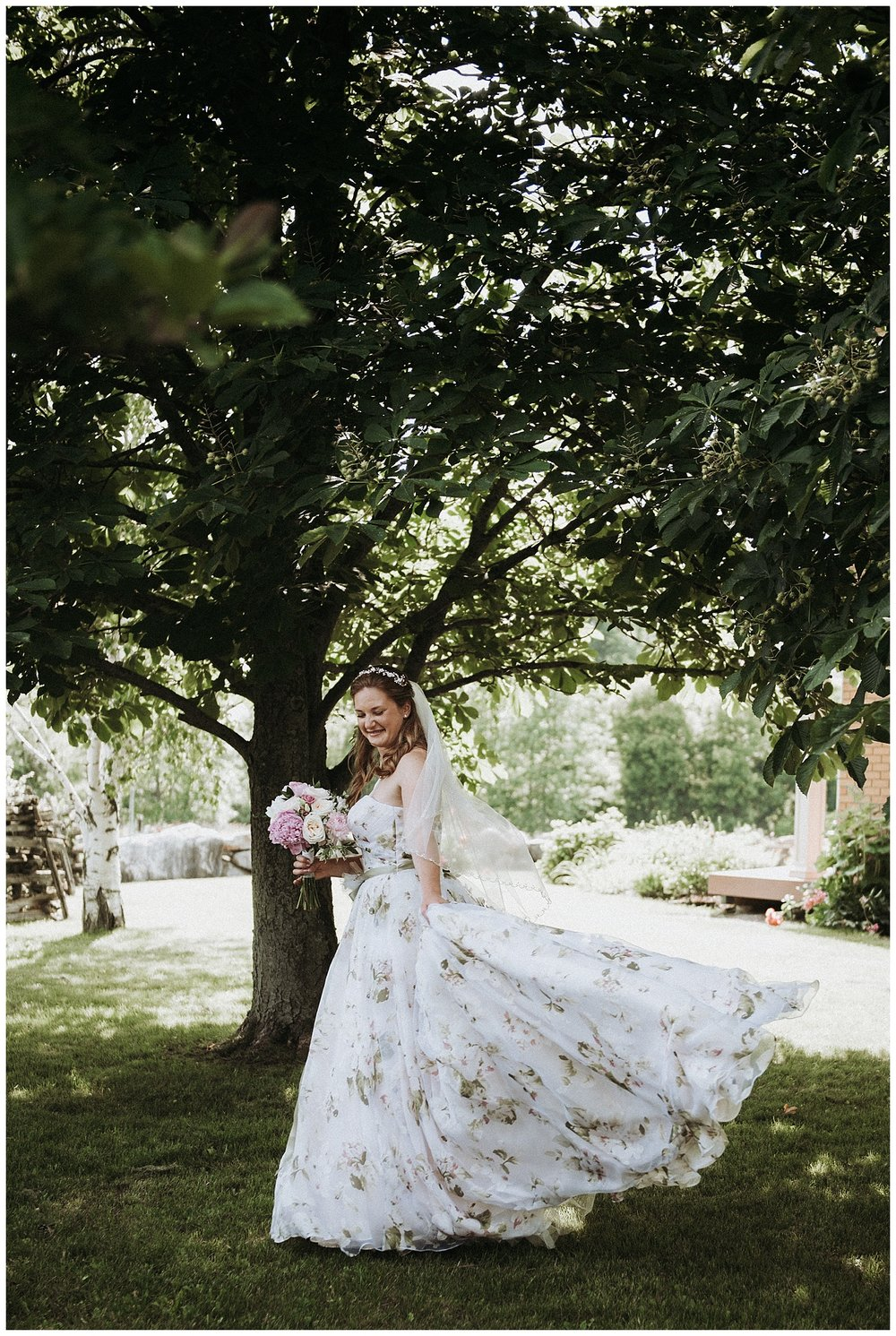 David Tutera for Mon Cheri Floral Gown | Holly McMurter Photographs