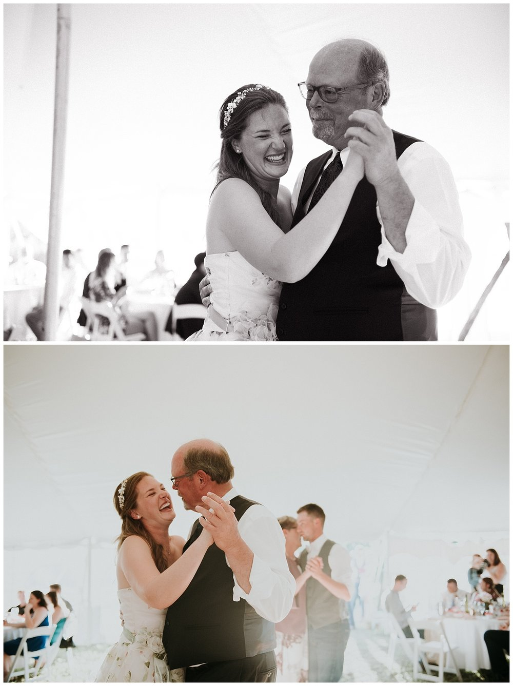 First Dance at Relaxed Frontyard Wedding in Trenton, Ontario | Holly McMurter Photographs