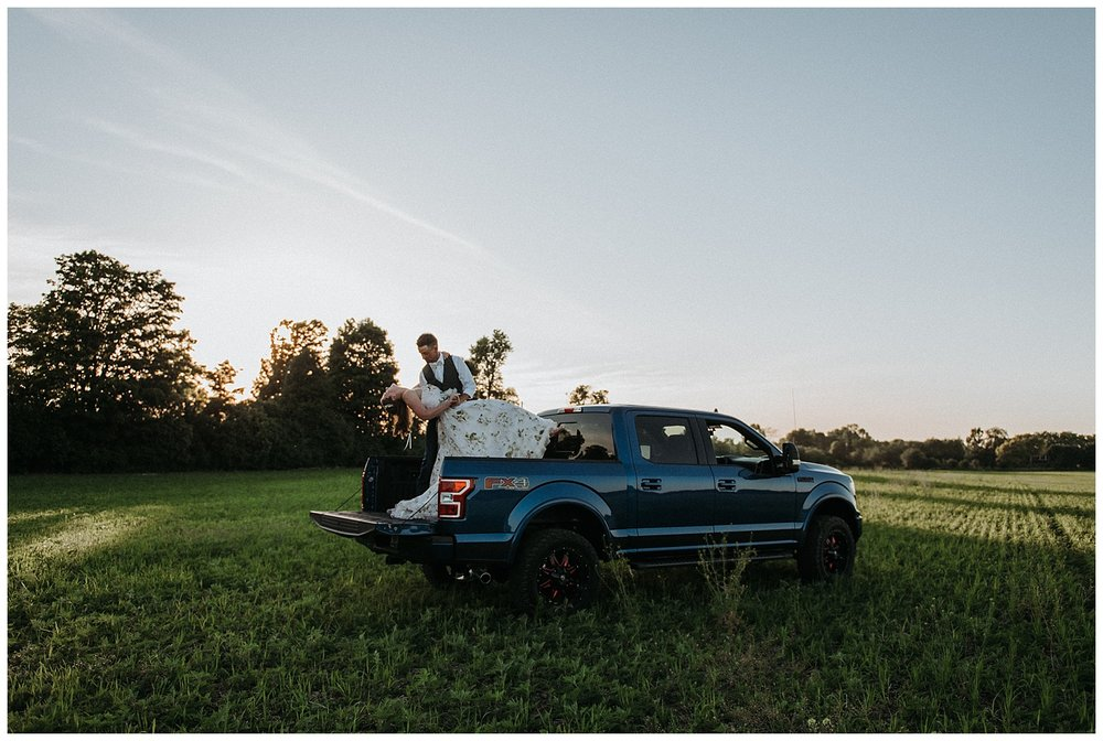 Ford Truck Relaxed Frontyard Wedding in Trenton, Ontario | Holly McMurter Photographs