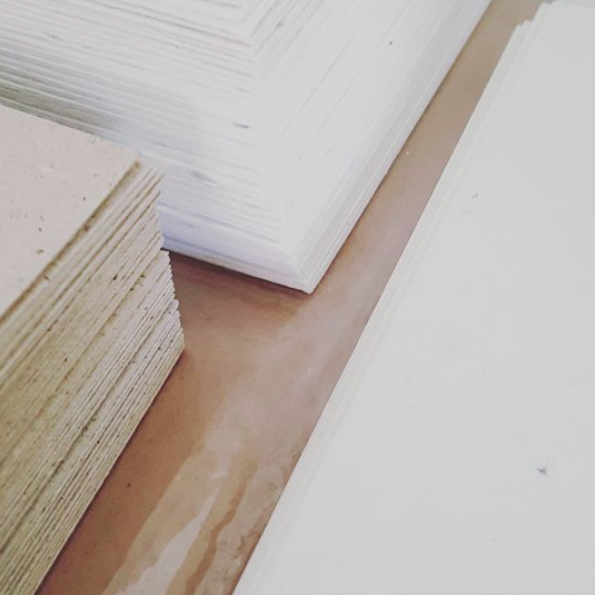Buy Our Paper - If you are interested in purchasing individual handmade sustainable sheets of our paper or commissioning us to for a larger scale project, please email us!