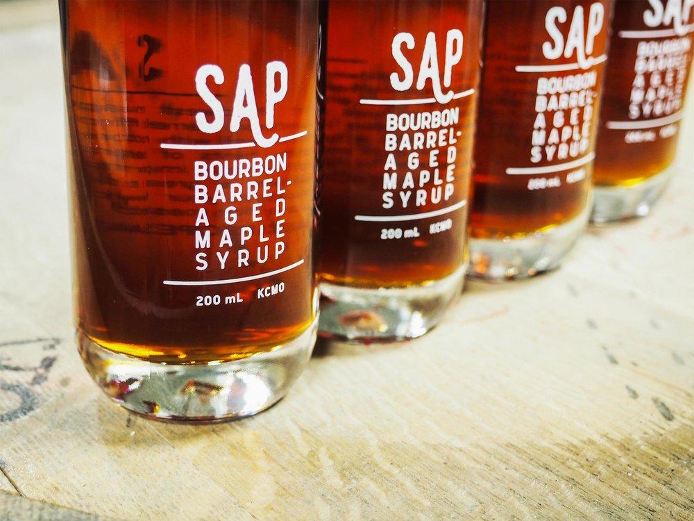SAP - Bourbon Barrel Aged Maple Syrup   photo credit//  @sap-syrup   KANSAS CITY, MISSOURI