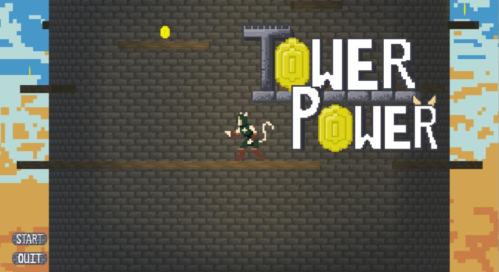 Menu Screen of Tower Power.