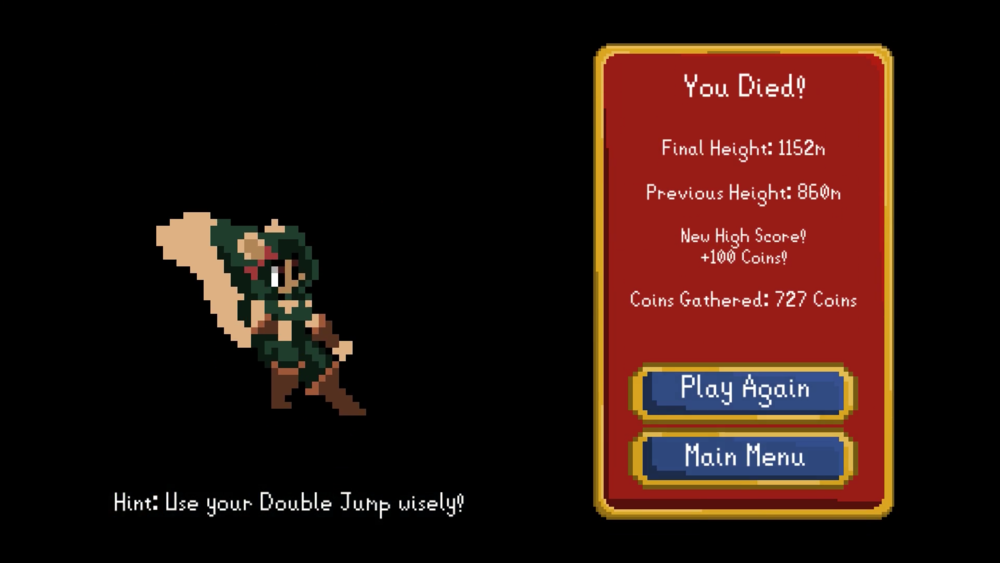 Roguish Riches Death Screen