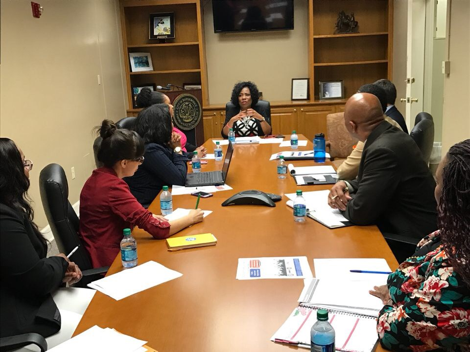 March 2017  SLCE meets with Mayor Weston-Broome - In March 2017, SLCE met with Mayor Sharon Weston-Broome to discuss her policy agenda and vision for the future of education across the City-Parish of East Baton Rouge.