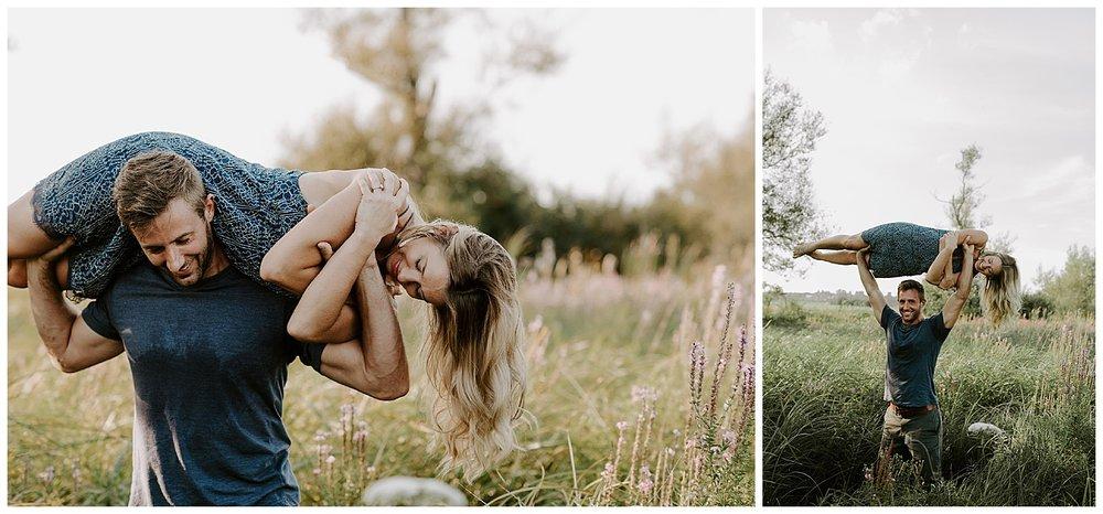 Austyn And Matt Colby Farm Sunflower Engagement Session. Boston Wedding Photographer | madelinerosephoto.com