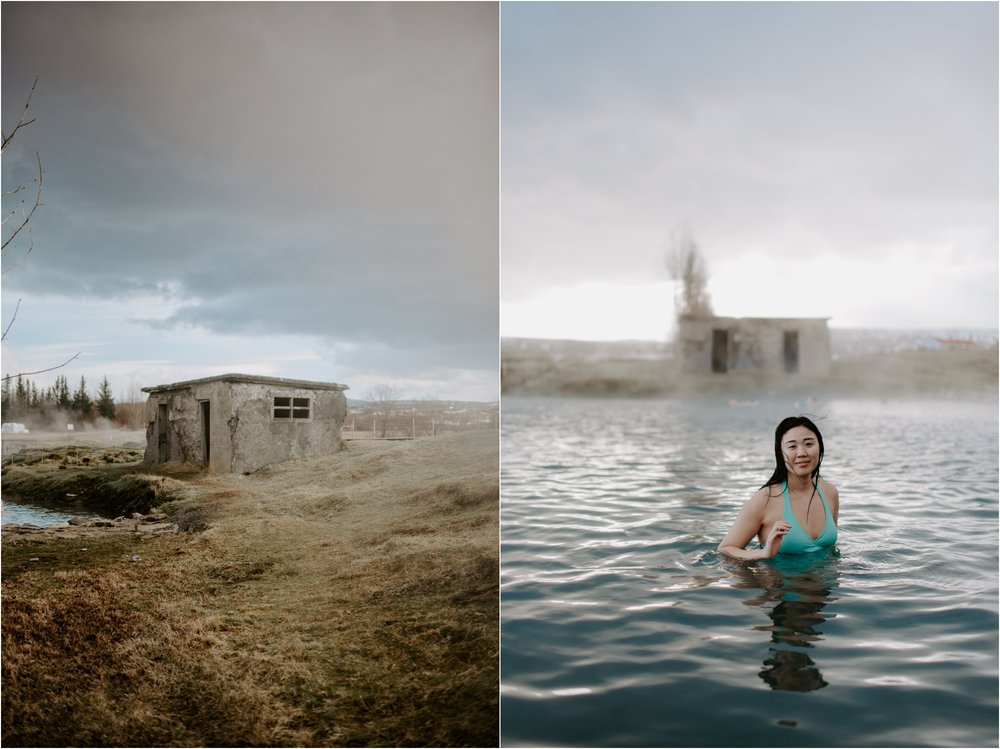 Iceland Secret Lagoon Hot Spring | Boston and Iceland Wedding Photographer | madelinerosephoto.com