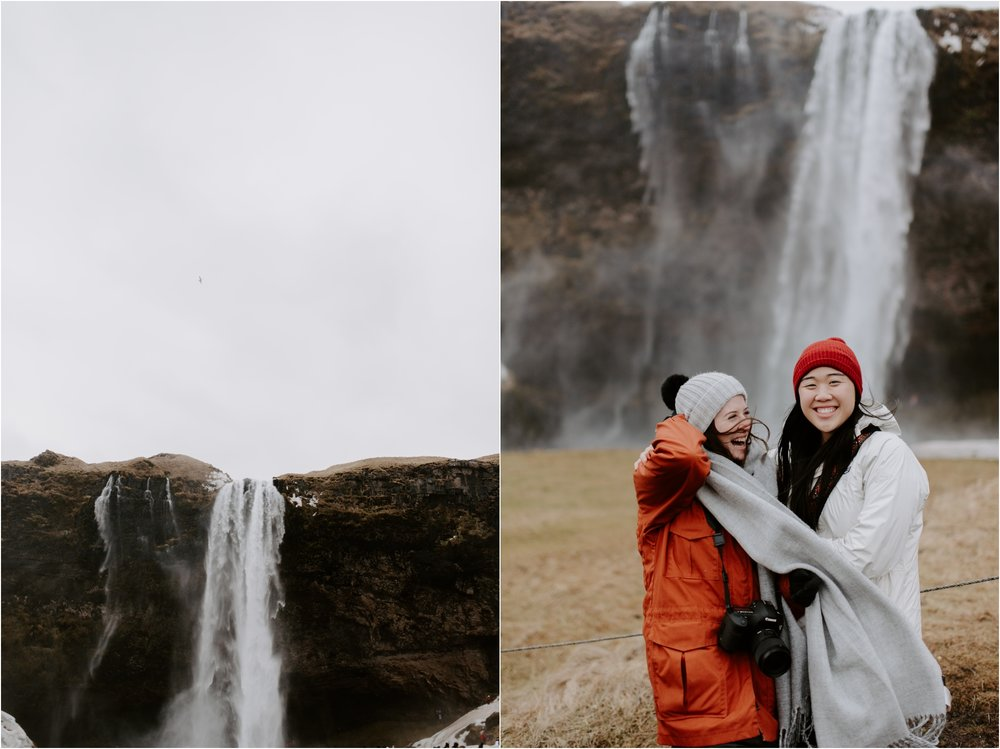 Seljalandsfoss Iceland Waterfall | Boston and Iceland Wedding Photographer | madelinerosephoto.com
