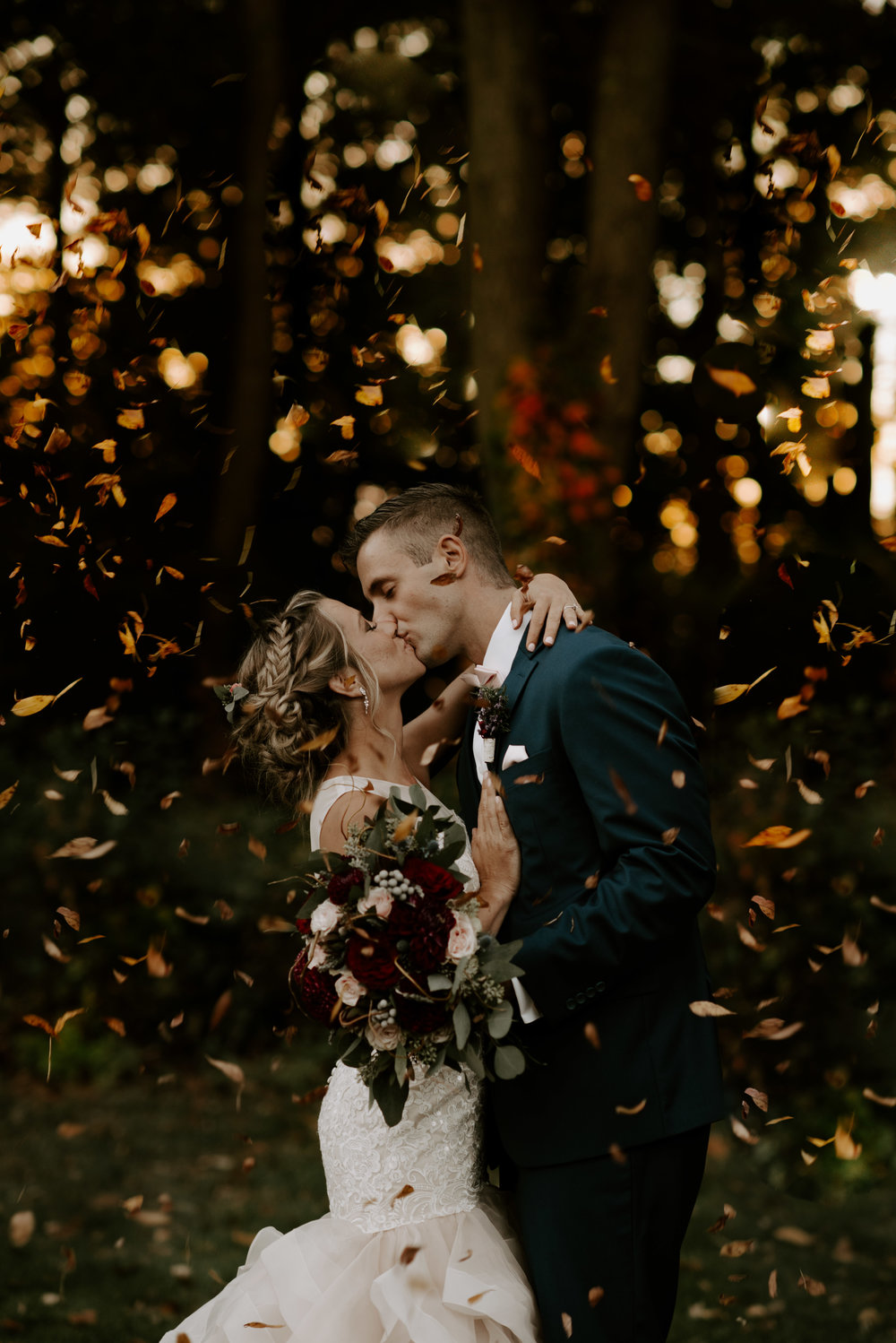 Boston Wedding Photography Pricing | Fall Leaves Massachusetts Wedding