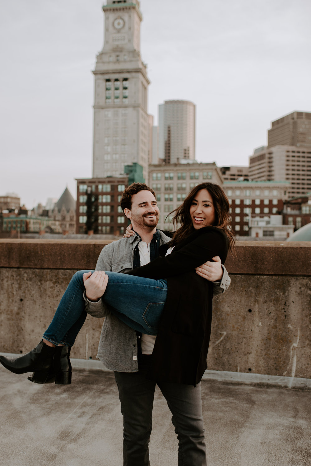 Grace and Kevin's Downtown Boston Engagement Session | Boston Wedding Photographer