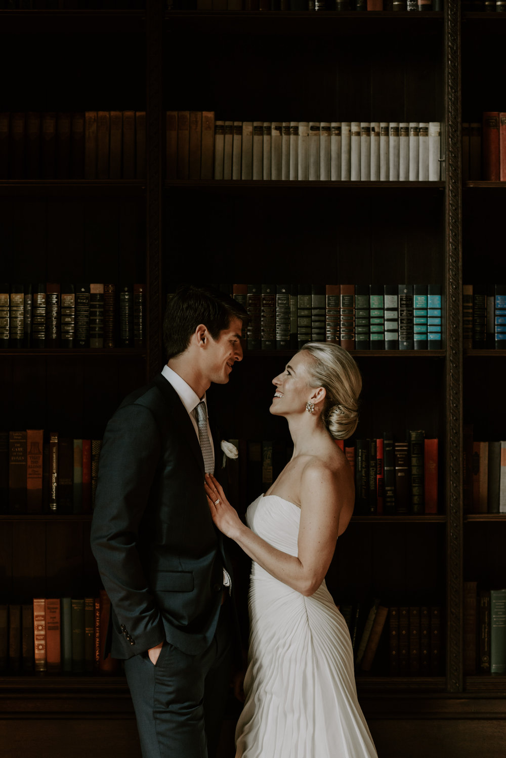 Moody Intimate Library Wedding | Boston Wedding Photographer | Madeline Rose Photography Co.