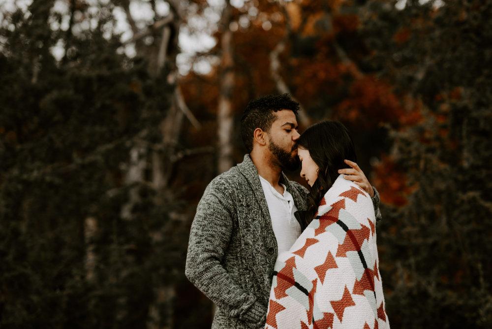 boston fall foliage engagement session at middlesex fells | boston wedding photographer