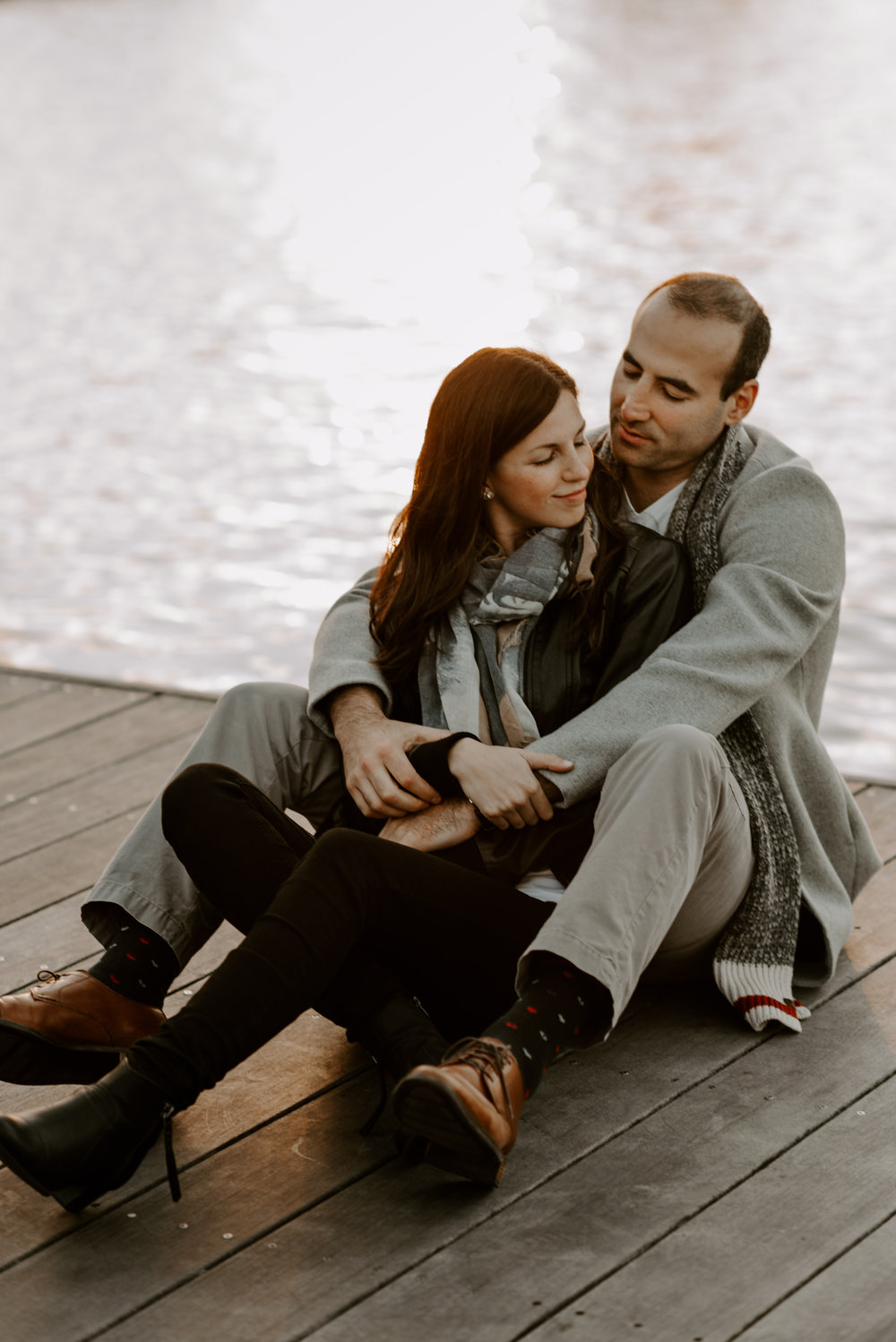 Dramatic and Moody Charles River, Boston Engagement Session | Boston Wedding Photographer | Madeline Rose Photography Co.