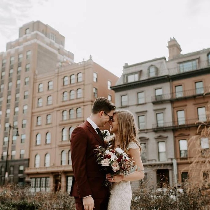 Boston Wedding Photography Pricing | Downtown Boston City Hall Elopement Wedding Photos