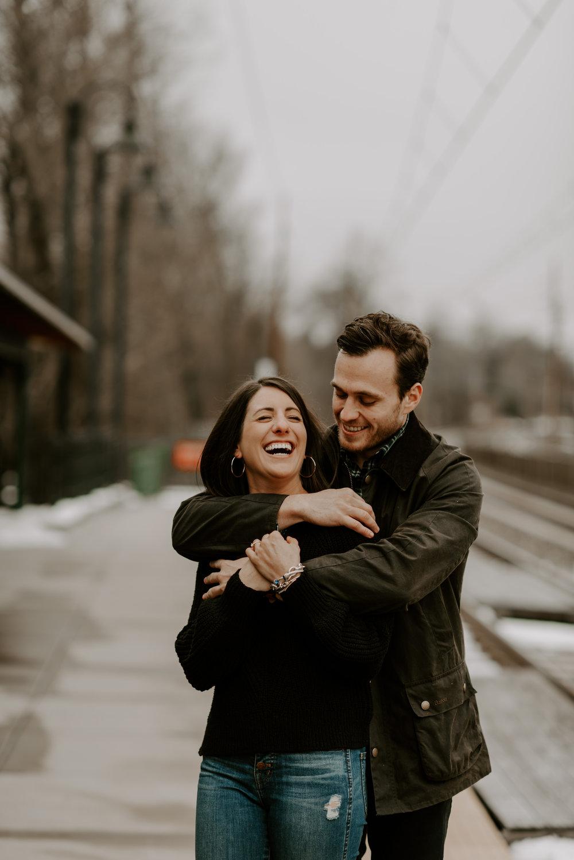 Downtown Wayne, PA adventure engagement session | Boston Wedding Photographer