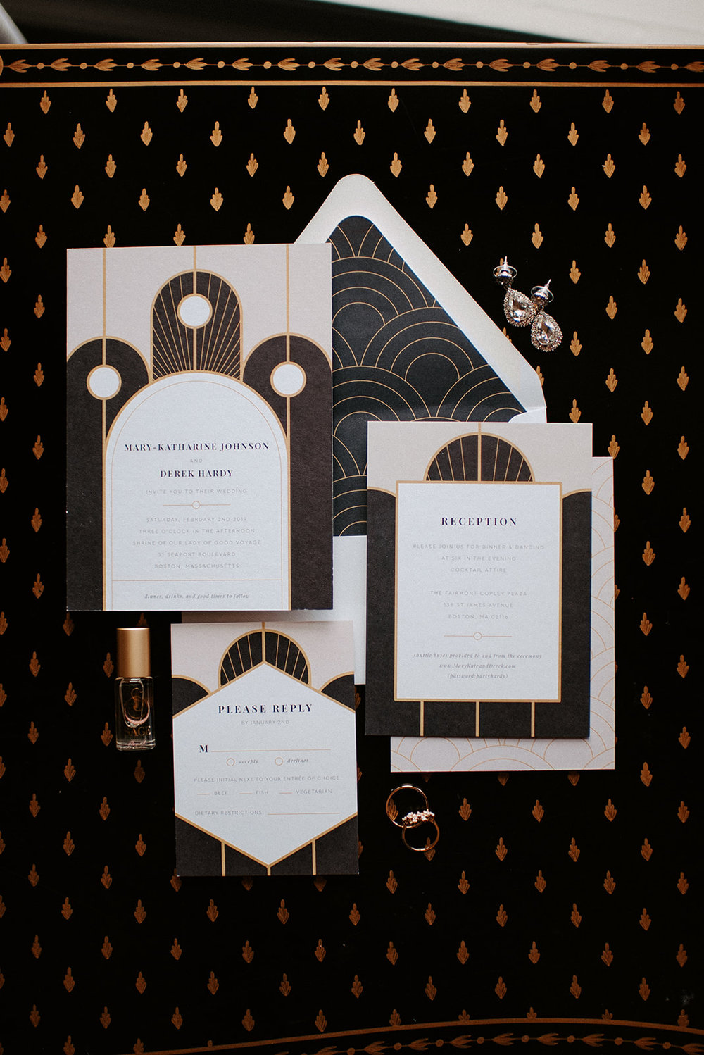 1920's Great Gatsby Inspired Wedding Suite | Downtown Boston Wedding | Boston Wedding Photographer