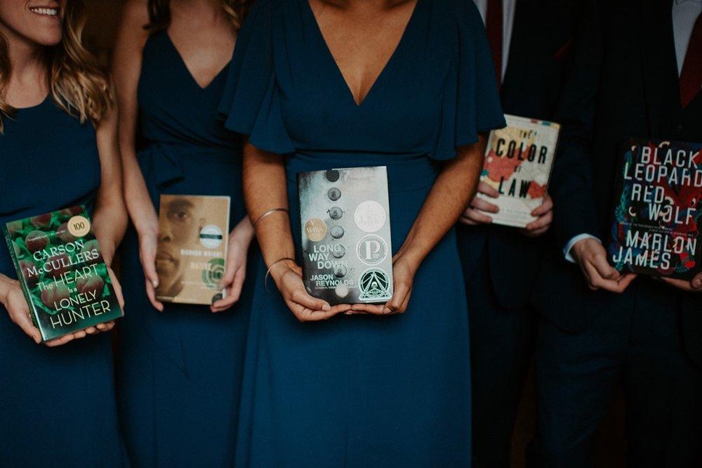 Mismatched Burgundy and Blue Wedding party | Industrial Downtown Birmingham, Alabamam Wedding | Alabama Wedding Photographer