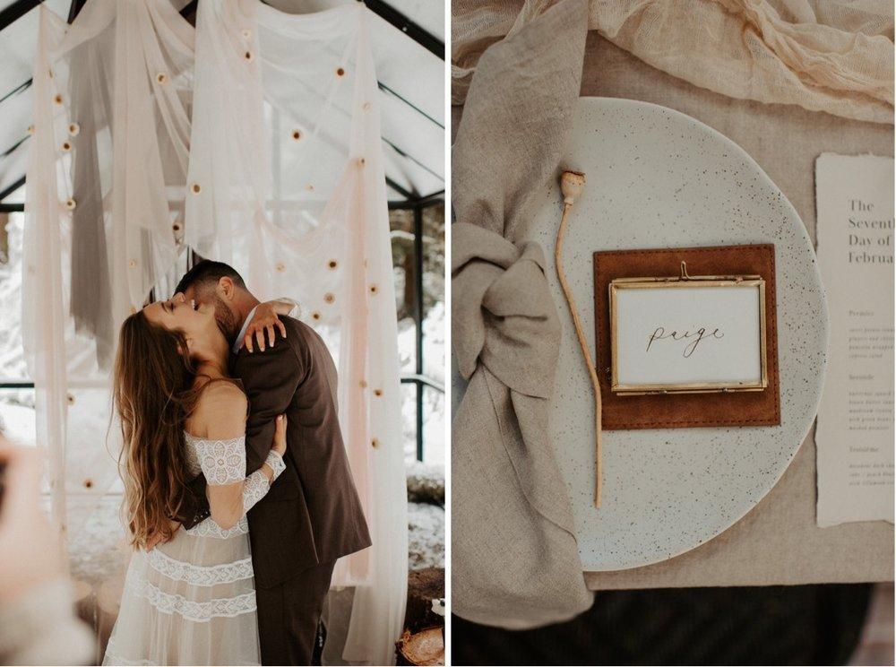 Winter Mountain Elopement Inspiration | Oregon Wedding Photographer