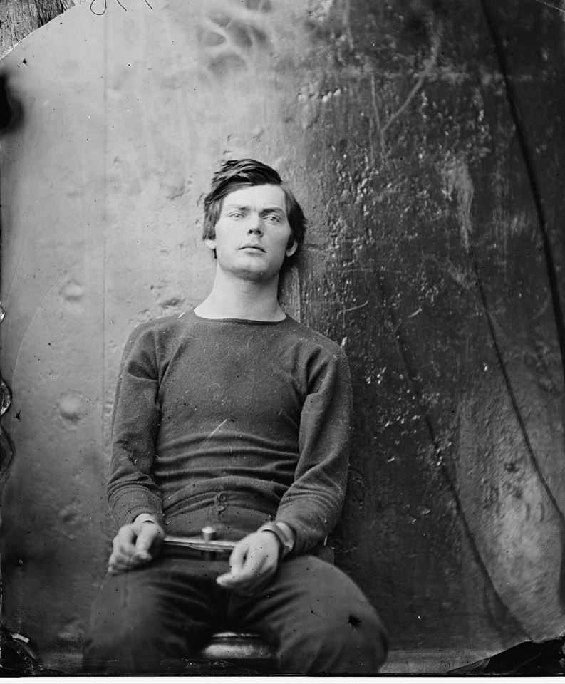 - Photograph of Lewis Thornton Powell in shackles after his capture in April of 1865 & before his hanging in July of that same year...