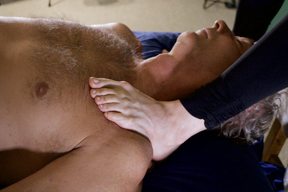 Ashiatsu pec massage