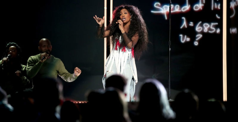 theroot.com   On Sunday night, at the 60th Grammy Awards celebration, held in New York City, Solana Rowe, better known to the world as SZA, was robbed.