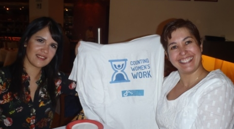 Anairis Hernandez and Estela Rivero, getting ready to begin the Counting Women's Work project in Mexico