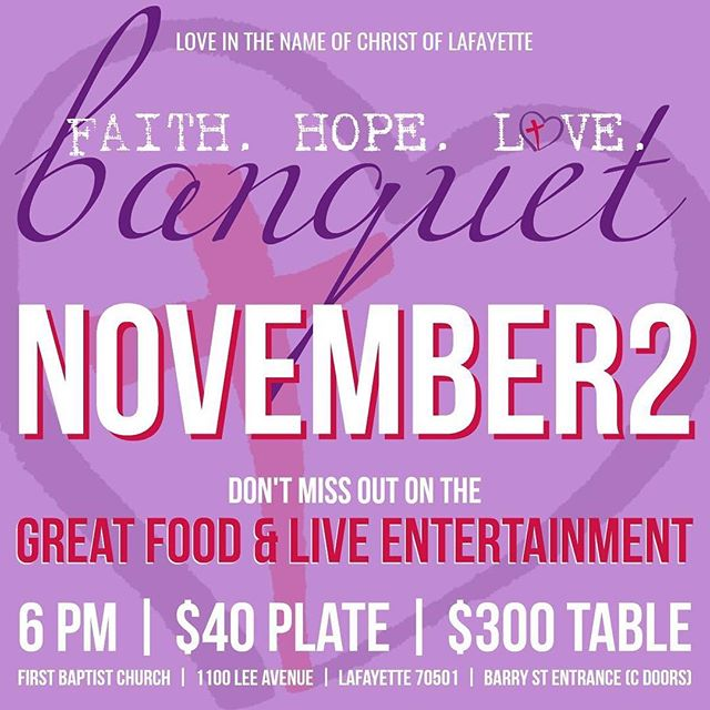 Only THREE DAYS left until our Faith.Hope.Love. Banquet!  It's still not too late to get your tickets if you haven't already. Link in bio.