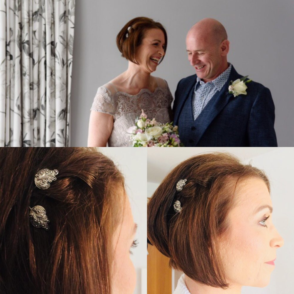 Marcasite Hair Pins For Claire's Vintage Style Wedding