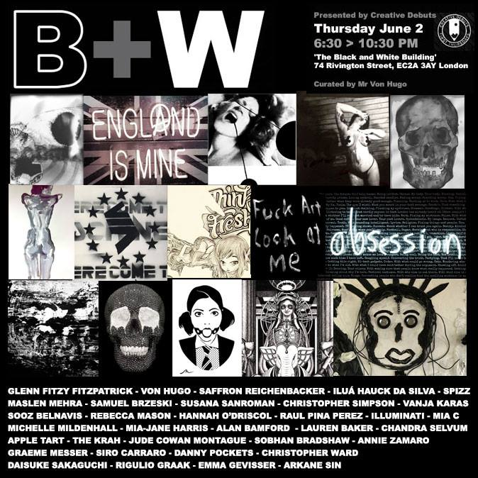 B&W exhibition poster