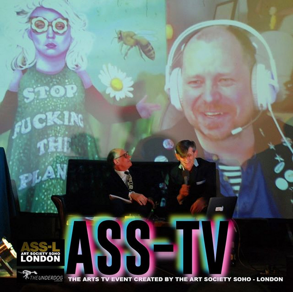 "LONDON: Michael Barnett    ""   State F22   ""  with   Martin Vintner-Jackson   at the launch of  ASS-TV"