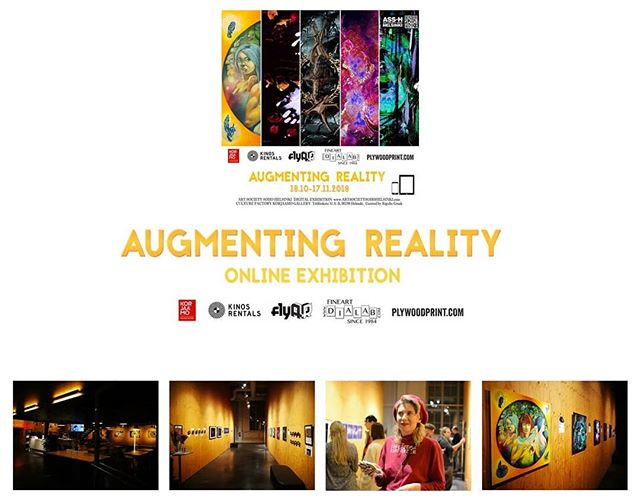 "Our digital exhibition: ""Augmenting Reality"" by @artsocietysohohelsinki is now over at Korjaamo. BUT...our Digital Exhibition is on! Join-in! Go to www.artsocietysohohelsinki.com 💥🌟🌠⭐✨💥 Augmenting Reality Digital Exhibition, concept/produced/curated by Rigulio Graak @rigulio_graak_art  #artsocietysohohelsinki #artsocietysoho #digitalexhibition #digitalart #multimedia #afx #editing #video #artexhibition #exhibition #art #taidenäyttely #taide #Helsinki #myhelsinki #ilovehelsinki #korjaamohki #sculpture #afx #editor #lawofattraction #dreams"