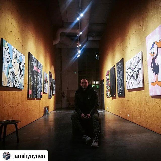 @jamihynynen • • • • • @korjaamohki Exhibition is ON. Visit until 09.02.2019 its free! 🔥 photo: @rigulio_graak_art  #arthelsinki #artlondon #artnyc #artmiami #arthk #arttokyo #artsydney #artmilano #milanoart #artbarcelona #artexhibition #myhelsinki #kulttuurivinkki #kulttuuri #taidenäyttely #taidemyynti #korjaamogalleria #korjaamo #korjaamohki #streetart #streetstyle #streetfashion #fashion #popart #abstract #abstractart #abstractartist