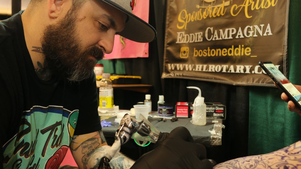 Eddie Campagna - AKA Boston Eddie, has been tattooing for 15 years. Located at Body Art Gallery in Tulare, California. Click on his photo to check out his work!