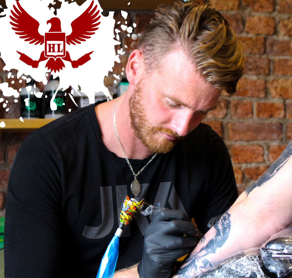 Nathan Haworth - Nathan is a versatile artist that can tattoo a wide range of styles. He specializes in realism, portraits, and 3D. Nathan is based in the UK but travels around the world developing new techniques. Click his photo to check out his work!