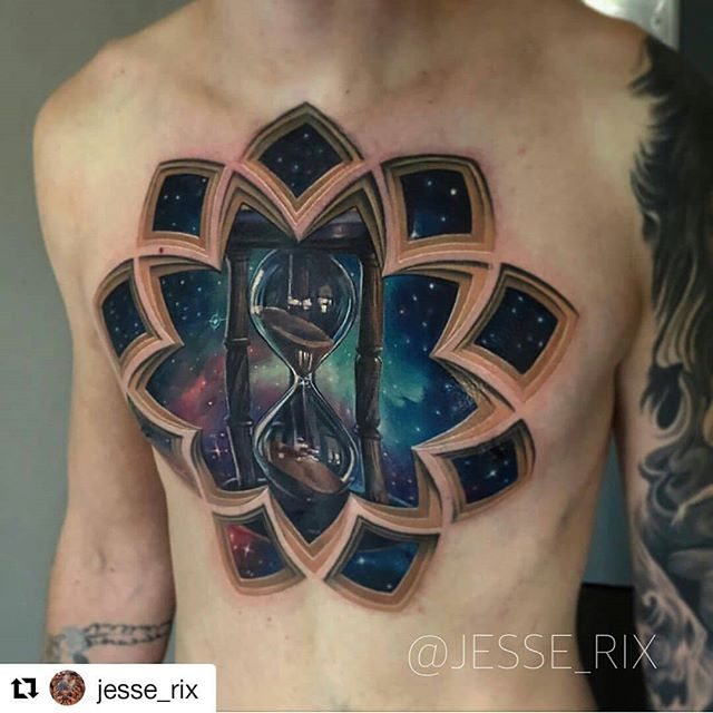 Tattoo done by @jesse_rix ・・・ Different angle of this really fun piece I did a while back! Inspired by the art of @borisipsum  to get on email list for when the books open, email info@jesserix.com