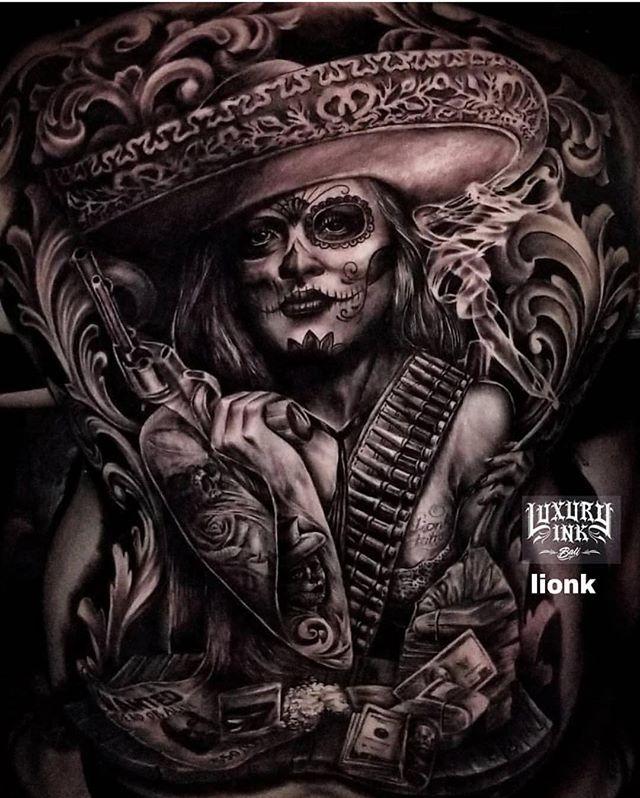 Sik back piece by artist  @luxuryinkbali ・・・ Full back done By Jepank & lionk (Gang bang) #luxuryinkbali #tattoo