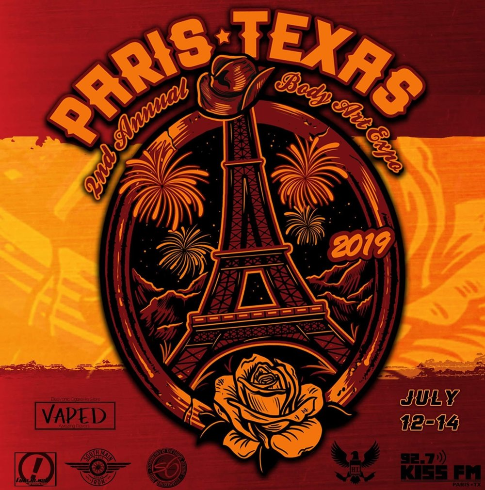 2nd Annual Body Art Expo - July 12-14 Paris, TXClick the photo for more information!