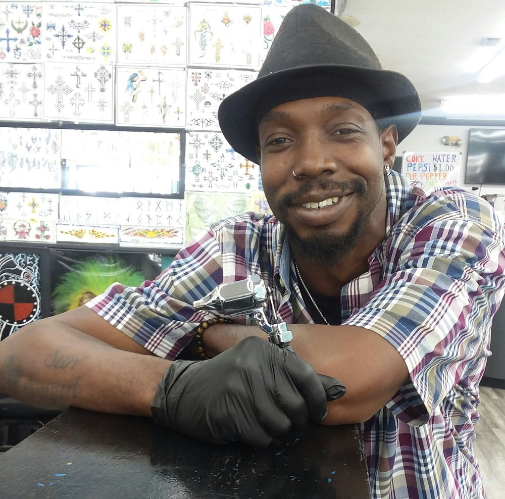 Soni Black - Soni has been tattooing professionally since 2017. As a well-rounded artist he naturally enjoys tattooing all styles, his favorite being Black & Gray. Click his photo to check out his work!