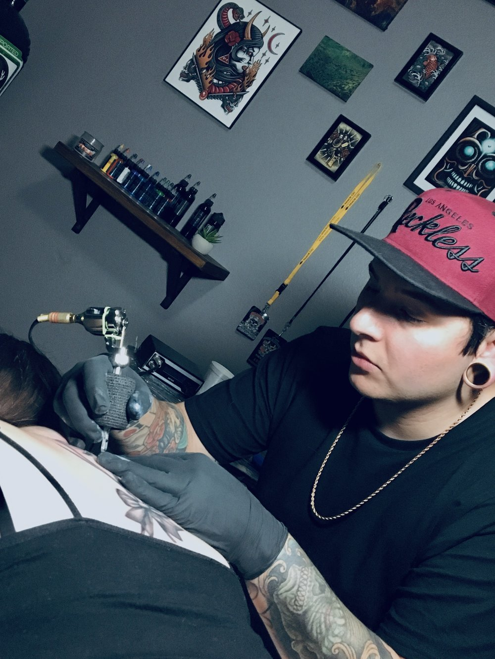Josh Levine - Josh's specialty is black and grey tattoos including portraits and realism. Click his photo to check out his work!