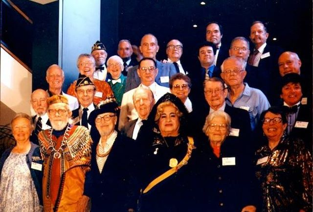 Happy Birthday Mama José!  Day 12 of the 12 Days of José: Here is José with a group of his legendary colleagues who fought for our rights. They had gathered in Los Angeles in 1998 to honor Jim Kepner and the 50th anniversary of the GLBT rights movement. See our FB page for a listing of who's who in this classic photograph. (Photo by Fred Camerer via the Jose Sarria Foundation) #josesarria #12daysofJose #mamajose #bluebuckets 🙏 #50yearsoffab