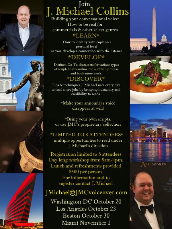 J Michael Collins Workshop Tour