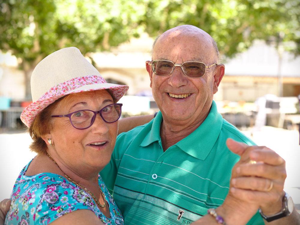 Happy couple downsizers rightsizers
