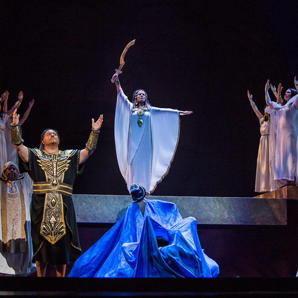 High Priestess,  Aida , Edmonton Opera  Photo:  Kelly Redinger