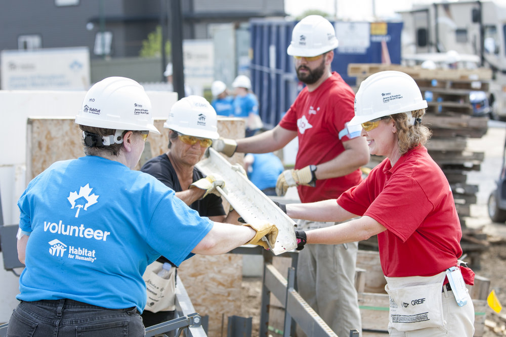 Volunteers are the backbone of Habitat for Humanity, and without them our work would not be possible. -