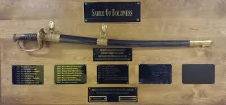 The Sabre of Boldness on display at Peace Lutheran Church, Sussex, Wisconsin