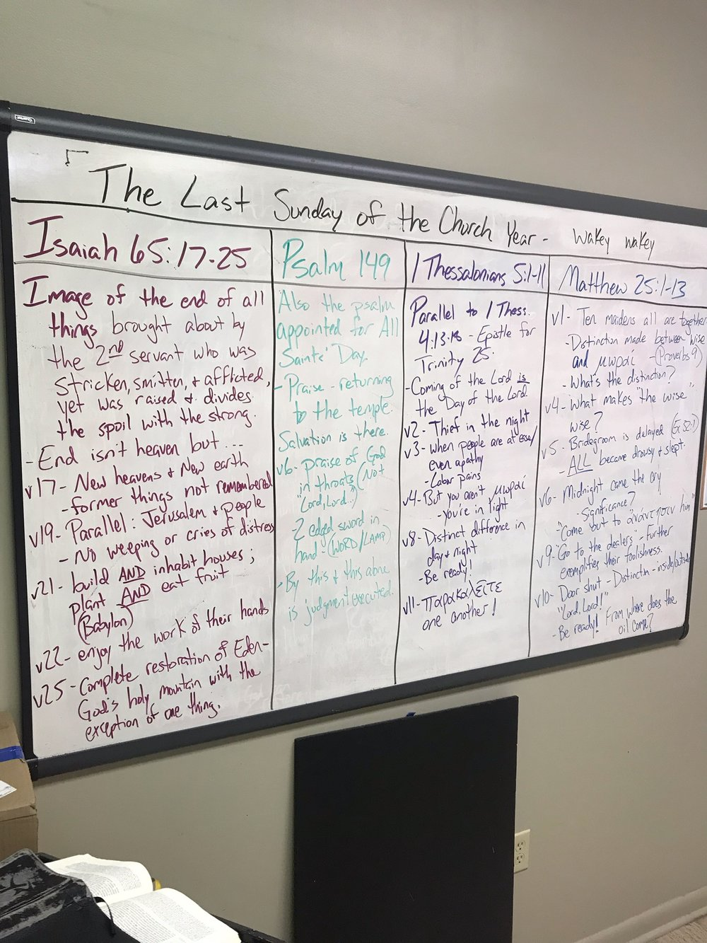 The grand, colorful, and most creative Friday morning board