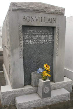 The resting place of the sainted Claire Bonvillain Bealer