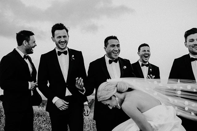 Bridesmaids scaring groomsmen a little ?