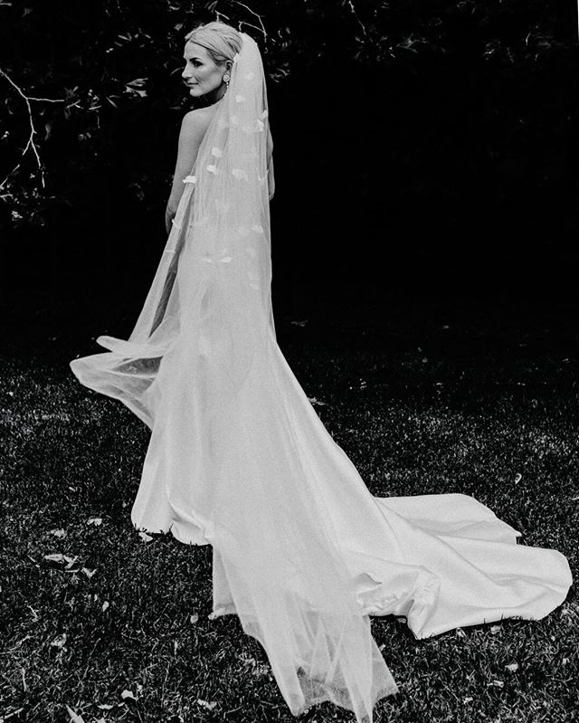 Beautiful Kate on her wedding day 💕  Kate's veil @heracouture  Kate's dress @kwhbridal  #harpersbazaarbride #voguebrides