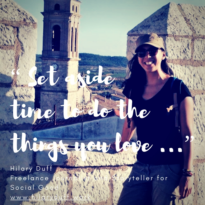 """""""Set aside time to do the things you love..."""""""