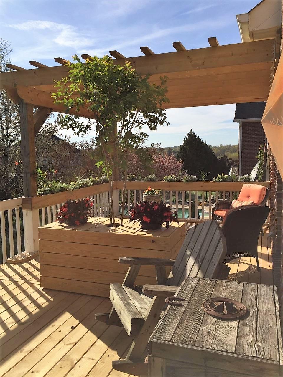 Pergola, Planters, Deck Boards